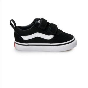 NEW Vans Ward V Toddler Skate Shoes Black Sz 10T
